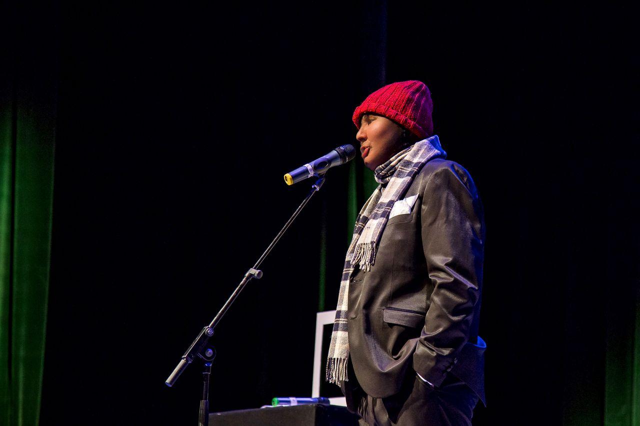 Лукинский Николай, на сцене с юмористическим монологом