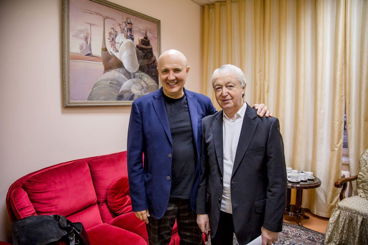 Лукинский Николай и Лион Измайловов перед концертом в г.Москве